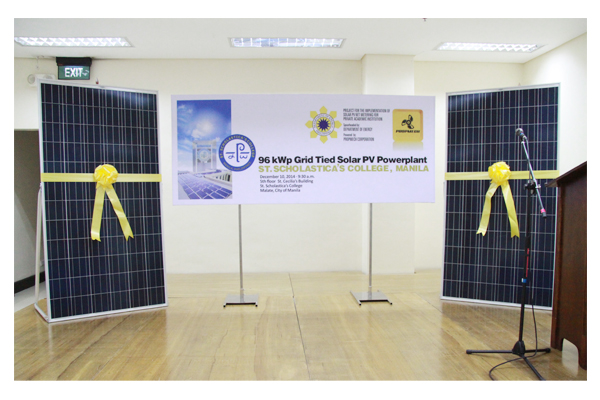 Inauguration of Solar Plates at SSC 12