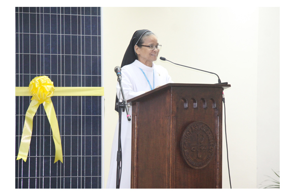 Inauguration of Solar Plates at SSC 37