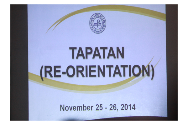 Re-Orientation and Tapatan 2014 6
