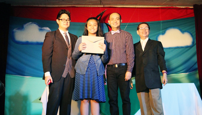 Champion, News Writing in Filipino- Noreen Hocson of 6-St. Hugh
