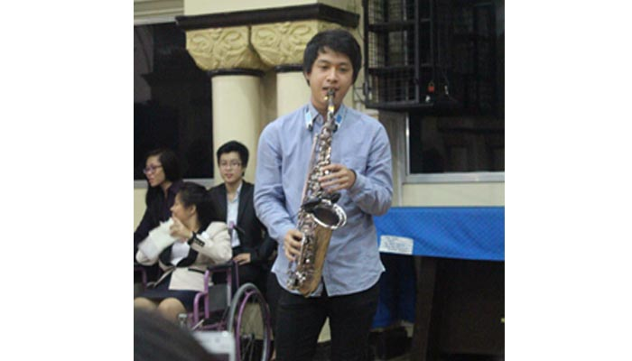 Mr. Marvin Dimayuga, the saxophonist from Jdogg Project