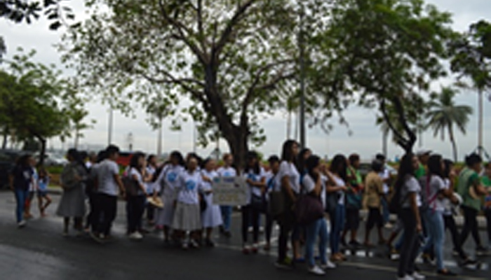 SSC-M group marching from Leon Guinto to Roxas Blvd