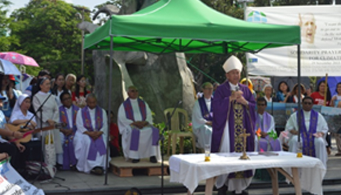 Eucharistic celelbration presided by Bishop Broderick Pabillo, Auxiliary Bishop of the Archdiocese of Manila