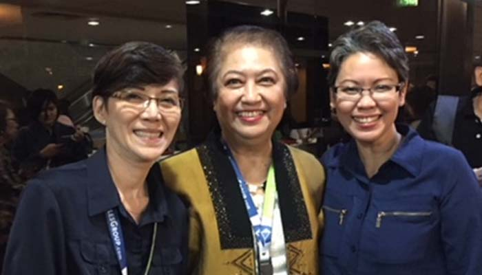 With Plenary speaker Dr. Rose Marie Salazar-Clemena  (center)