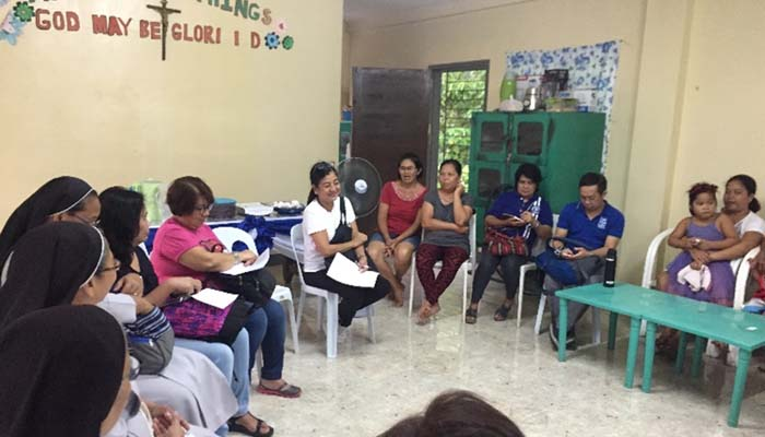 June 20, 2018, meeting with the families of the Sambayanan ni San Benito