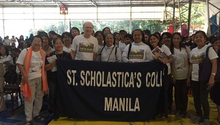 September 1, 2018, SSC Community pose with Fr. John Leydon during the Walk for Creation