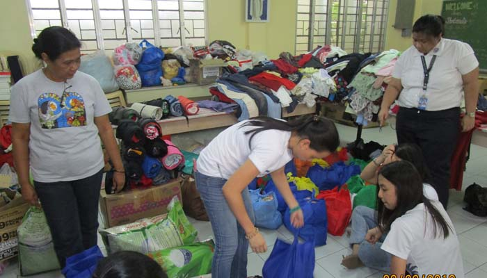 August 2018, Packing of relief bags for the Habagat flood victims in Marikina and Tanay, Rizal