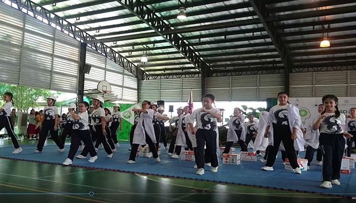 SSC Grade School Eco Dance group danced their way to second (2nd) runner - up