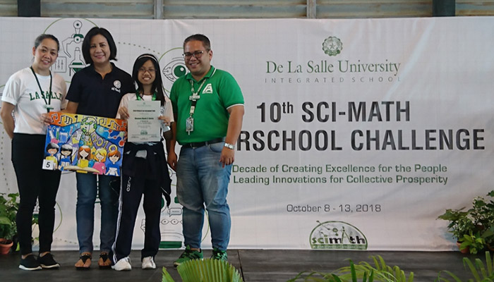 Shaunna Illysia Castro, 6th grader, awarded second (2nd) runner – up for Sci-Math Poster Making