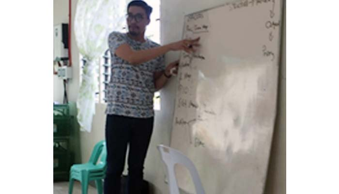 Oct. 20, 2018, Prof. Leofel Vergara conducts consultations on financial management