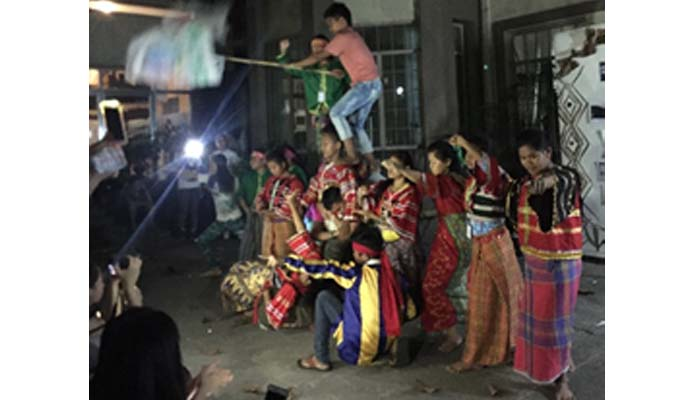 Oct. 13, 2018 Welcome Solidarity Night, the lumads doing their protest dance