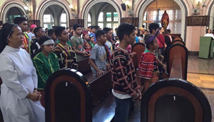 October 14, 2018 – Lumads join the Indigenous People's Sunday in SSC Chapel