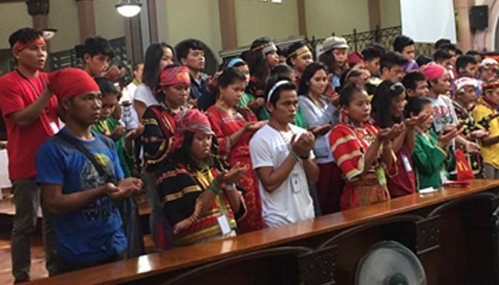 October 14, 2018 – Lumads join the Indigenous People's Sunday in SSC Chapel, They  bless the mass goers