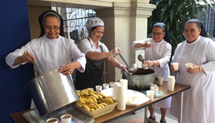 October 14, 2018 – Solidarity Breakfast with the Benedictine sisters.