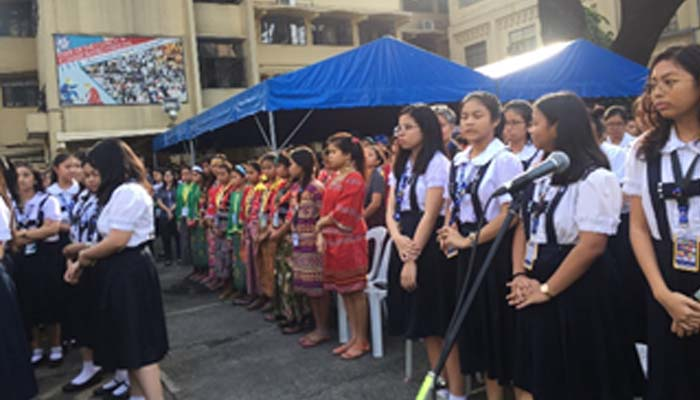 October 15, 2018 – Lumad students join the flag ceremony in SSC
