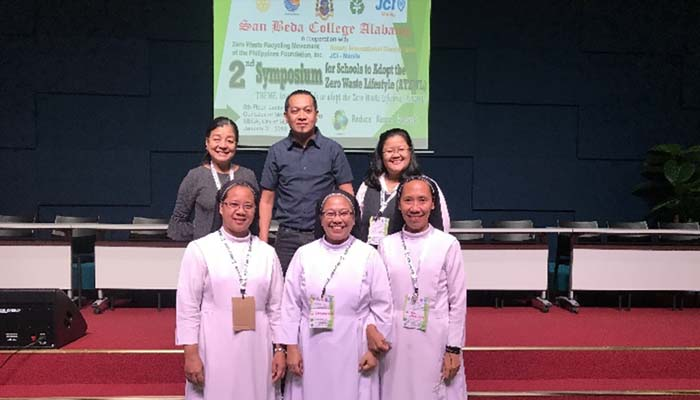 Jan. 31, 2019, Sr. M. Christine Pinto, OSB led the SSC delegation in the conference on adopting a zero waste management lifestyle in school campuses