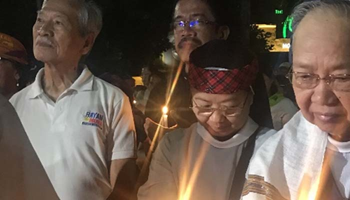 Jan. 25, 2019 Rally by the religious groups calling for peace. The rally was followed by candle lighting along Roxas Boulevard.