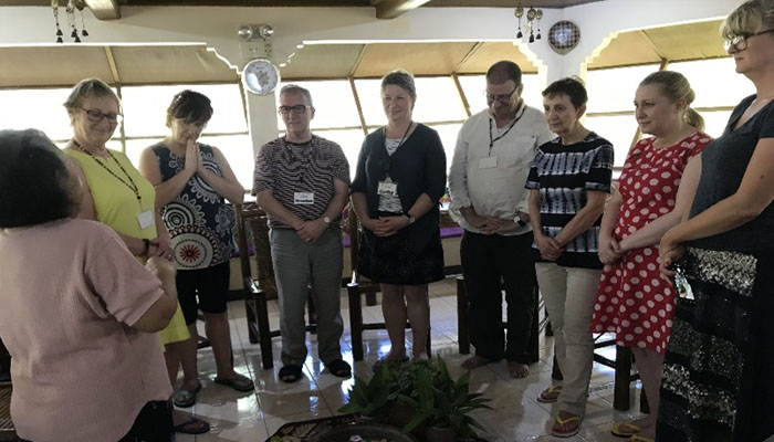 February 16-22, 2019 EDUCAREM during the closing ritual of their visit in the Philippines at the Women Ecology and Wholeness Farm in Mendez, Cavite