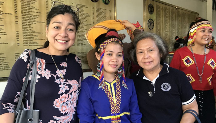 March 29, 2019 SSC representatives, Becky P. Marquez and Ms Arche Ligo, stood a parents for the Lumad Bakwit School  graduating students held  the UP Integrated School