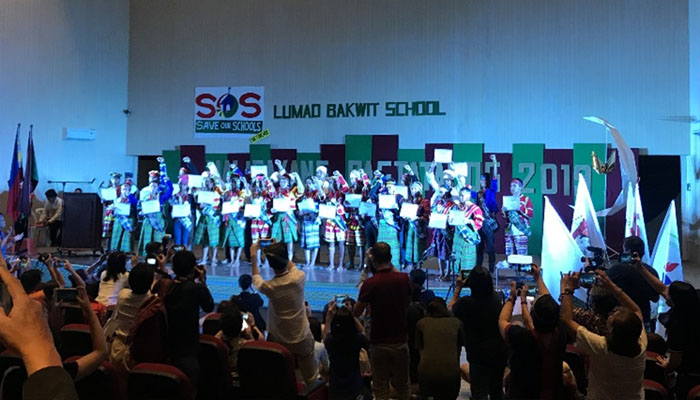 March 29, 2019 graduation of the Lumad Bakwit School held in the UP Integrated School