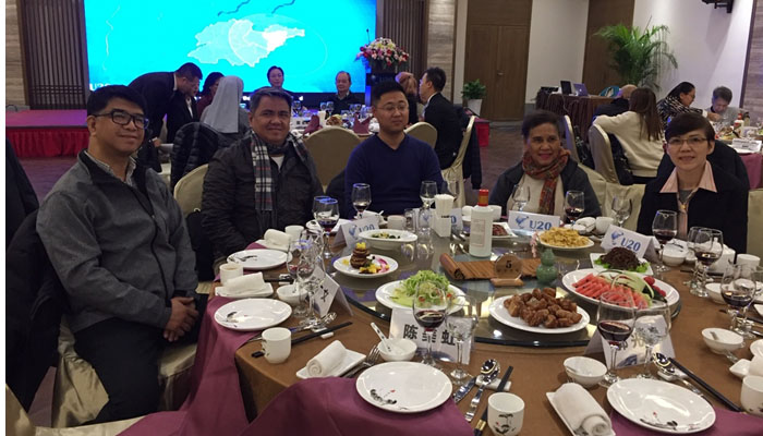 Welcome dinner at Laoshan Academy Hotel