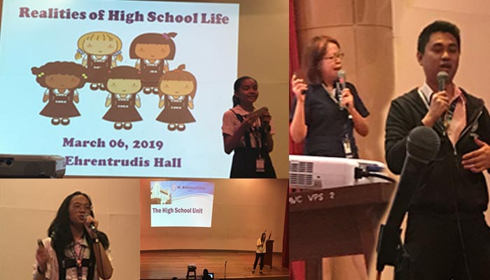 Symposium on                      The Realities of High School Life                                for Grade 6, March 6, 2019, Sr. Ehrentrudis Hall