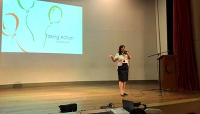 Talk on Taking Actions October 22, 2018 Sr. Ehrentrudis Hall