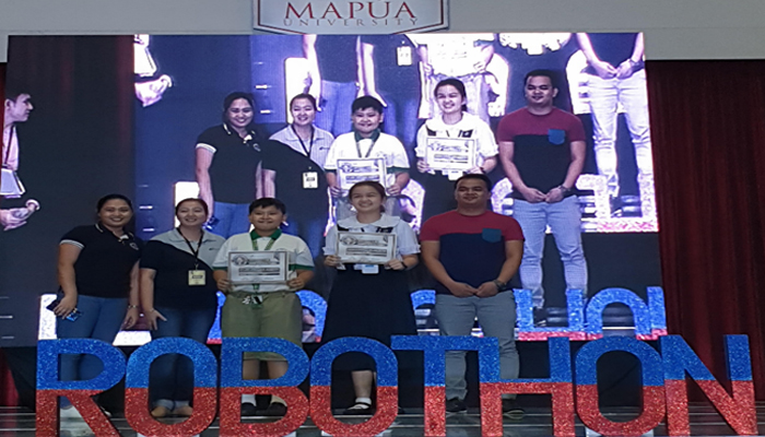 """Grade 7 student Marsha Sophia Delos Reyes bagged """"Top 3 Coder"""" in WeCode National 2019 held September 20 at the Mapua University, Manila. WeCode is under STEAM International Challenge, one of the competitions of Philippine Robothon 2019."""