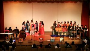 Grade 9-Harmony's presentation on the Renaissance Period with matching instrumentals and singing.